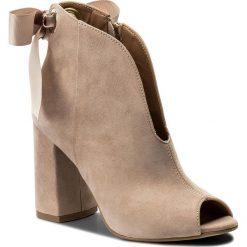 Botki R.POLAŃSKI - 0925 Róż Pudrowy Zamsz. Brązowe buty zimowe damskie R.Polański, z materiału, na obcasie. W wyprzedaży za 249,00 zł.