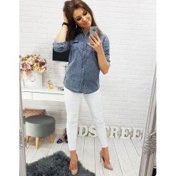 Koszule body: Koszula damska jeansowa w cętki (dx0871)