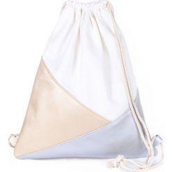 Torebki i plecaki damskie: Art of Polo Plecak damski Triangles biało-beżowy