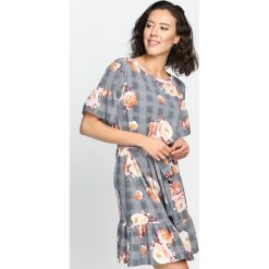 Sukienki: Szaro-Pomarańczowa Sukienka New Love