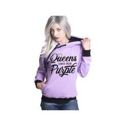 Bluzy damskie: Bluza Queens always wear Purple