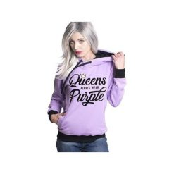 Bluzy rozpinane damskie: Bluza Queens always wear Purple