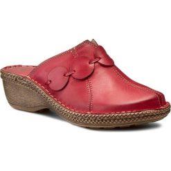 Chodaki damskie: Klapki WALDI - 673  Czerwony