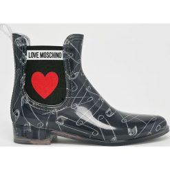Love Moschino - Kalosze. Szare kalosze damskie Love Moschino, z gumy. Za 579,90 zł.