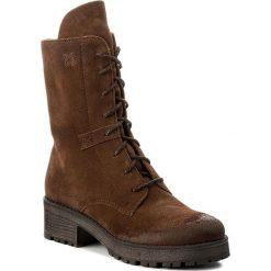 Kozaki MACIEJKA - 02673-29/00-3 Brudny Rudy. Brązowe buty zimowe damskie marki Kazar, ze skóry, przed kolano, na wysokim obcasie. Za 294,00 zł.