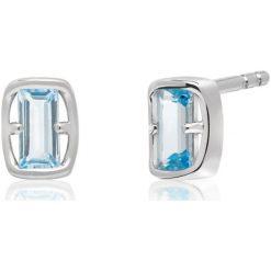 Kolczyki damskie: Zjawiskowe Srebrne Kolczyki – srebro 925, Topaz swiss blue