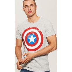 T-shirt Kapitan Ameryka - Jasny szar. Szare t-shirty męskie marki House, l. Za 59,99 zł.
