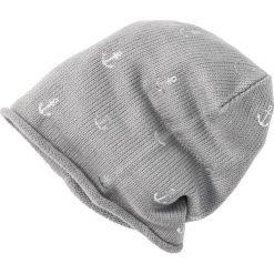 Czapka bonprix szary melanż w srebrne kotwice. Szare czapki zimowe damskie marki bonprix, melanż. Za 24,99 zł.