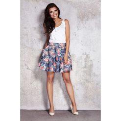 Spódniczki: Rozkloszowana Kwiatowa Spódnica Mini