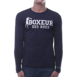 BOXEUR Koszulka długi rękaw granatowa r.XS (BXE-2809F). Czarne koszulki sportowe męskie BOXEUR, m. Za 91,87 zł.