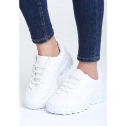 Białe Buty Sportowe Waves All Night. Białe buty sportowe damskie marki Born2be, z materiału. Za 49,99 zł.