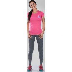 """Bluzki damskie: Ground Game Sportswear Koszulka damska Rashguard Light """"Melange Pink"""" krótki rękaw Różowa r. XS"""