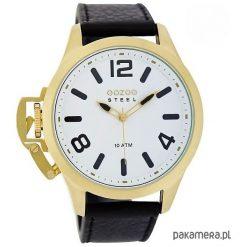 Zegarek OOZOO Steel OS340 black/gold. Czarne zegarki damskie Pakamera. Za 295,00 zł.