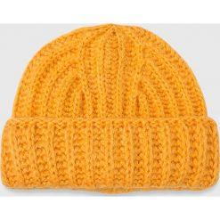 Noisy May - Czapka. Pomarańczowe czapki damskie Noisy May, na zimę, z dzianiny. W wyprzedaży za 29,90 zł.
