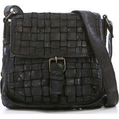 Torebki klasyczne damskie: Skórzana torebka w kolorze czarnym – 21 x 19 x 7 cm
