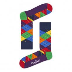 Skarpety Happy Socks Argyle (ARY01-6002). Brązowe skarpetki męskie Happy Socks, z bawełny. Za 20,99 zł.