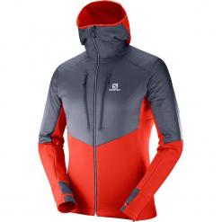 """Kurtka funkcyjna """"Drifter Air"""" w kolorze antracytowo-czerwonym. Czerwone kurtki męskie marki Salomon, sportowe. W wyprzedaży za 454,95 zł."""
