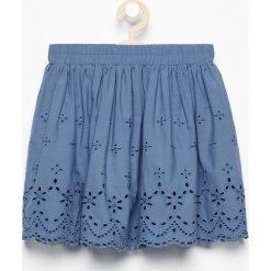 Spódniczki dziewczęce: Bawełniana spódnica z haftem – Niebieski