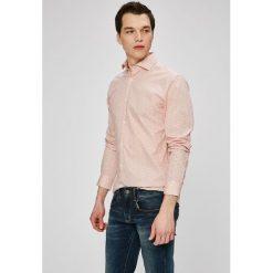Selected - Koszula. Szare koszule męskie na spinki marki S.Oliver, l, z bawełny, z włoskim kołnierzykiem, z długim rękawem. W wyprzedaży za 119,90 zł.