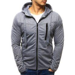 Bluzy męskie: Bluza męska rozpinana z kapturem szara (bx2282)