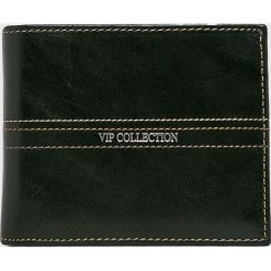 VIP COLLECTION - Portfel skórzany Palermo. Czarne portfele męskie marki VIP COLLECTION, z materiału. W wyprzedaży za 169,90 zł.