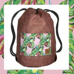 Plecaki męskie: BIRDS & DARK PINK dwustronny plecak SACK IT!