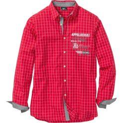 Koszula w kratę Regular Fit bonprix czerwono-biały w kratę. Białe koszule męskie marki bonprix, z klasycznym kołnierzykiem, z długim rękawem. Za 89,99 zł.
