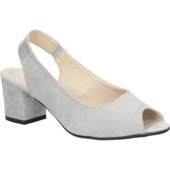 Sandały na słupku Casu 1770. Szare sandały damskie na słupku marki Casu. Za 99,99 zł.