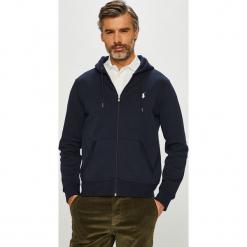 Polo Ralph Lauren - Bluza. Czarne bluzy męskie rozpinane marki Polo Ralph Lauren, l, z bawełny, z kapturem. Za 639,90 zł.