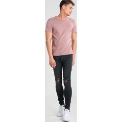 Topman SPRAY ON STRIPS Jeans Skinny Fit blue. Niebieskie jeansy męskie marki Topman. W wyprzedaży za 199,20 zł.