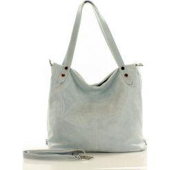 Torebka skórzana italian bag SKYLAR - biała antique. Białe torebki klasyczne damskie MAZZINI, w paski. Za 279,00 zł.