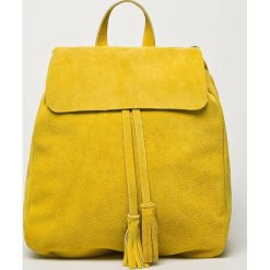 Answear - Plecak skórzany. Pomarańczowe plecaki damskie ANSWEAR, z materiału. W wyprzedaży za 239,90 zł.
