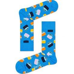 Happy Socks - Skarpety (3-pack). Niebieskie skarpetki męskie Happy Socks, z bawełny. Za 119,90 zł.