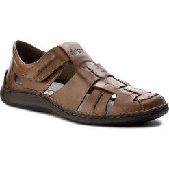 Sandały męskie skórzane: Sandały RIEKER – 05275-26 Brown