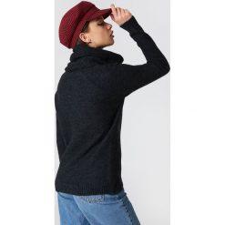 Trendyol Sweter z wywijanym golfem - Black,Grey. Czarne swetry oversize damskie Trendyol, z dzianiny. Za 100,95 zł.