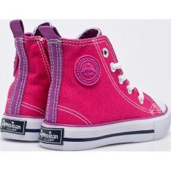 American Club - Trampki dziecięce. Szare buty sportowe dziewczęce American CLUB, z materiału. Za 49,90 zł.