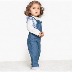 Bluzki dziewczęce: Koszulka z falbankami w paski 1 miesiąc – 3 lata Oeko Tex