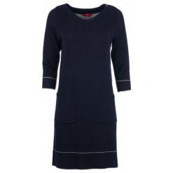 S.Oliver Sukienka Damska 40 Ciemnoniebieski. Czarne sukienki S.Oliver, s, z długim rękawem. Za 259,00 zł.