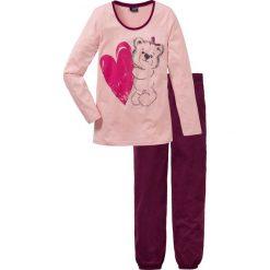 Piżama bonprix stary róż z nadrukiem. Czerwone piżamy damskie bonprix, z nadrukiem. Za 59,99 zł.