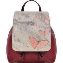 """Plecaki damskie: Plecak """"Never Lose Hope"""" w kolorze czerwono-szarym – 23 x 27 x 12 cm"""
