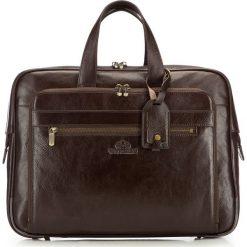 Torba na laptopa 21-3-314-4. Brązowe torby na laptopa marki Wittchen, w paski. Za 849,00 zł.