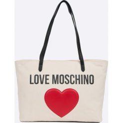 Love Moschino - Torebka. Szare torebki klasyczne damskie marki Love Moschino, z materiału, duże. W wyprzedaży za 429,90 zł.