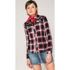 Tally Weijl - Koszula. Szare koszule damskie w kratkę marki TALLY WEIJL, l, z tkaniny, casualowe, z klasycznym kołnierzykiem, z długim rękawem. W wyprzedaży za 69,90 zł.