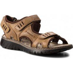 Sandały męskie skórzane: Sandały LASOCKI FOR MEN – MI18-971 Brązowy
