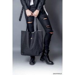 Torba triangle grafit zamek. Czarne torebki klasyczne damskie marki Pakamera, ze skóry. Za 119,00 zł.
