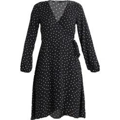 Sukienki hiszpanki: Gina Tricot LINNEA WRAP DRESS Sukienka letnia black/white