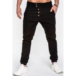 SPODNIE MĘSKIE JOGGERY P480 - CZARNE. Czarne joggery męskie Ombre Clothing, z bawełny. Za 84,00 zł.