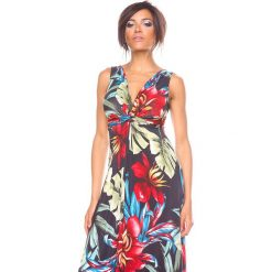 """Sukienki hiszpanki: Sukienka """"Imp"""" w kolorze czarnym ze wzorem"""