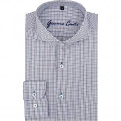 Koszula IGNAZIO slim 15-11-21-K. Szare koszule męskie slim marki Giacomo Conti, m, w kratkę, z długim rękawem. Za 169,00 zł.