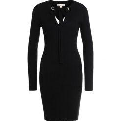 MICHAEL Michael Kors GROMMET Sukienka dzianinowa black. Czarne sukienki dzianinowe marki MICHAEL Michael Kors, l. W wyprzedaży za 409,50 zł.